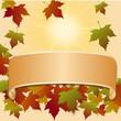 Herbstliches Dekor mit Spruchband