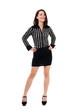 Happy businesswoman with hands on hips