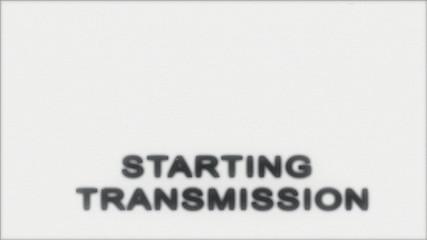 TV Test starting transmission, Black and White