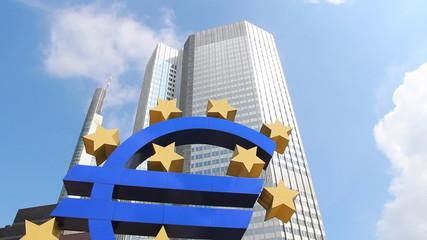 Euro sign, Frankfurt