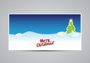 Merry Christmas card tree template