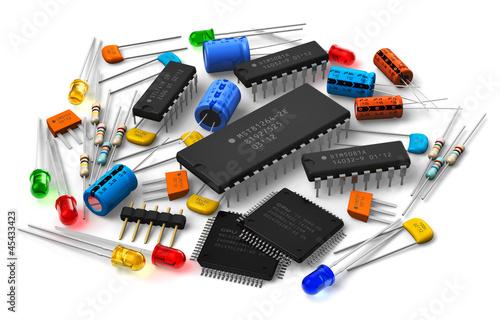 Leinwanddruck Bild Electronic components