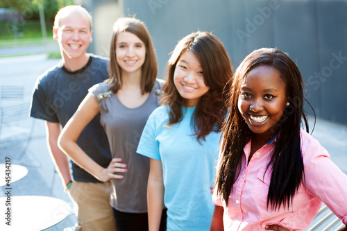 Multi-ethnic group of teenagers