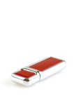 usb flash drive isolated on white vertical