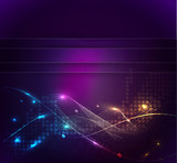 Fototapety Abstract glowing lines of light with rainbow colors background.