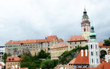 Typical medieval homes of Cesky Krumlov, Czech Republic
