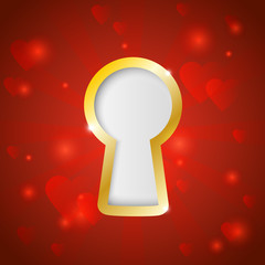Keyhole background with place for Your secret