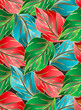 Wallpaper of seamless leaves