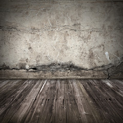 Old dark grunge interior background