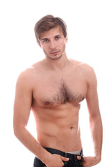 Handsome guy with naked torso