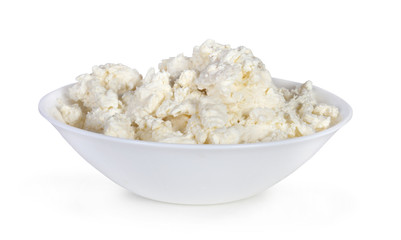 cottage cheese on plate