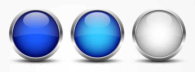 Vektor Buttons Blau Weiß