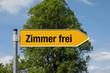 Pfeil mit Baum ZIMMER FREI