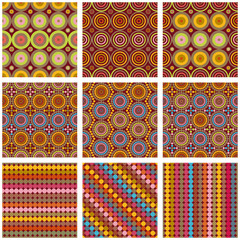 Seamless circle patterns set