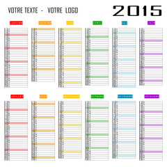 Calendrier 2015 personnalisable