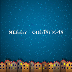 Christmas card with houses