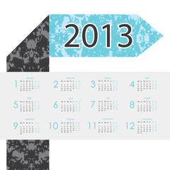 arrow design 2013 calendar