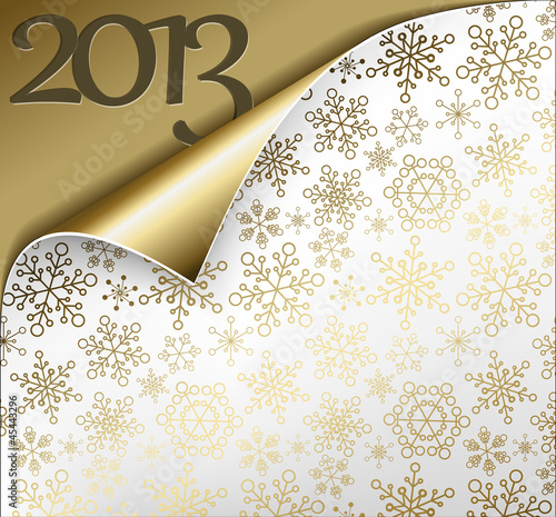 Vector Christmas New Year Card 2013