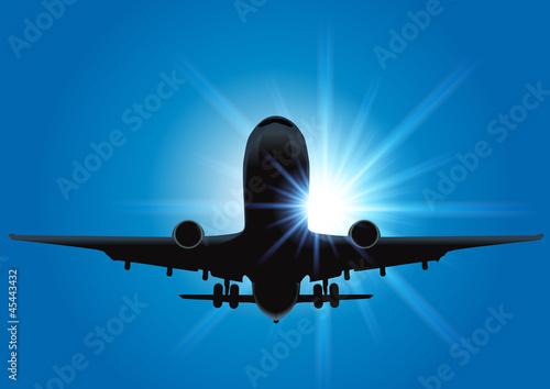 Avion_Soleil_Rayons