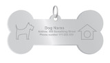 Vector, identity dog tag