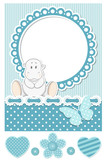 Happy baby hippo blue scrapbook set