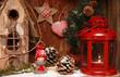 Weihnachtswichtel und Laterne