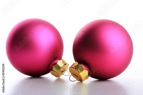 Pinke weihnachtskugeln von tom lizenzfreies foto for Pinke weihnachtskugeln