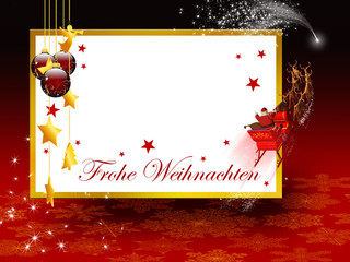 Frohe Weihnachten, Weihnachtskarte, Weihnachtsgruß, Grüße, Karte