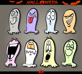 Halloween Ghosts Emoticons