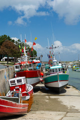 Fishing boats Boyardville France