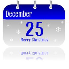 25 December calendar date - Christmas