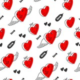 Hearts seamless pattern (vector version)