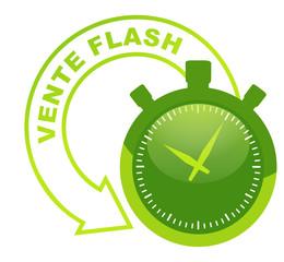 vente flash sur symbole validé vert 3d
