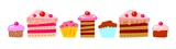 Cakes and cupcakes (raster version)