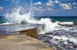 Sparks of breaking wave in the Mediterranean sea