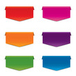 vector colorful banners, labels