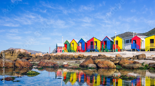 Canvas Zuid Afrika Colourful Beach Houses in South Africa