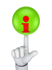 Info icon on a green sphere.
