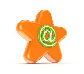 Orange star with a green AT symbol.