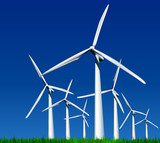 Wind Generators. Vector illustration