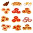 set tasty sand cookies and cake