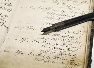 alte Schrift um 1850, Kalligrafie