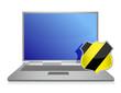 Virus shield computer protection illustration