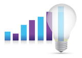 Idea lightbulb graph illustration design
