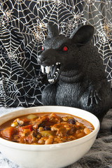 Halloween Rat Eating Chili