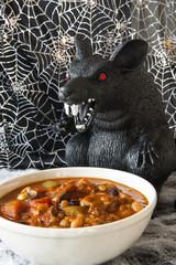 Halloween Rat Eating Chili