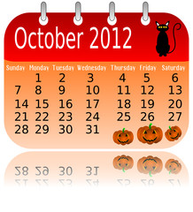 Calendar 2012 - October