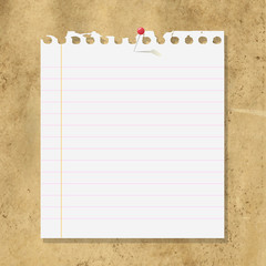Blank Note Paper On Cardboard Background