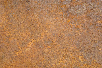 Closeup of rusty metal tin surface background.