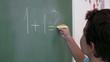 Preschool Student learning mathematics